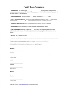 Editable Legal Contract Template For Borrowing Money Excel