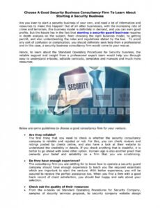 Editable Private Security Contract Template Word
