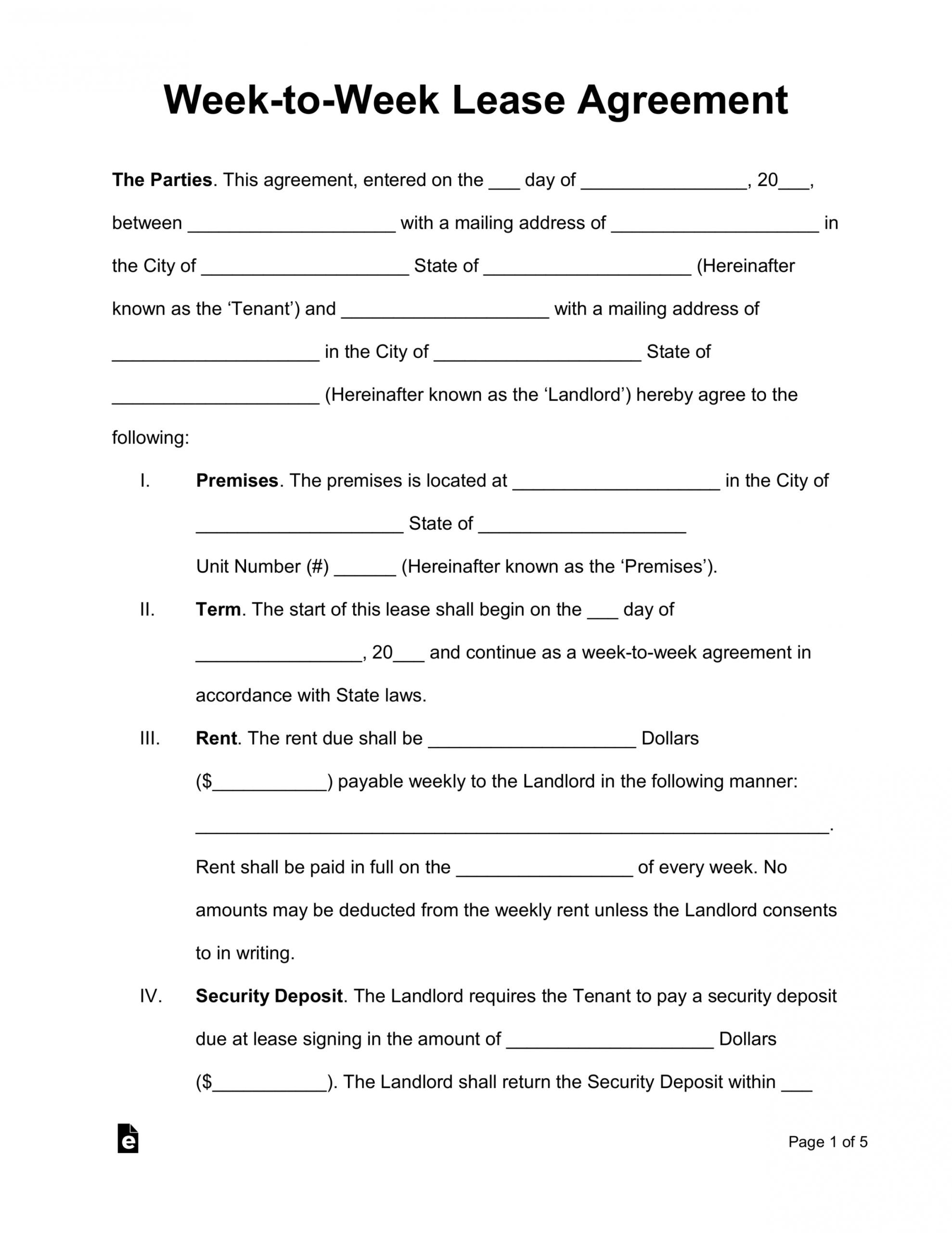 Editable Vacation Home Rental Contract Template Word