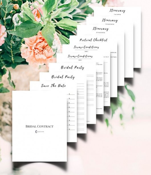 Free Bridal Makeup Contract Template  Example