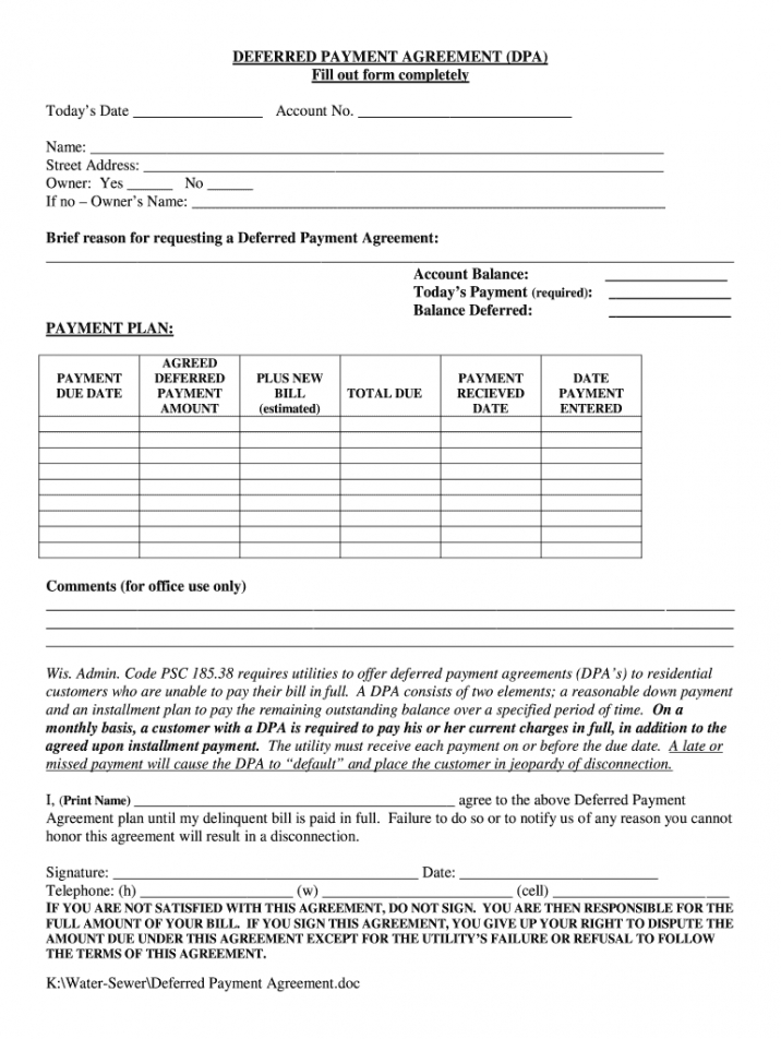 Free Legal Contract Template For Payment Pdf Example