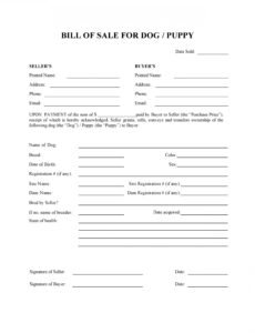 Free Puppy Purchase Contract Template Pdf Sample