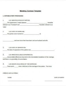 Printable Bridal Makeup Contract Template Doc Sample
