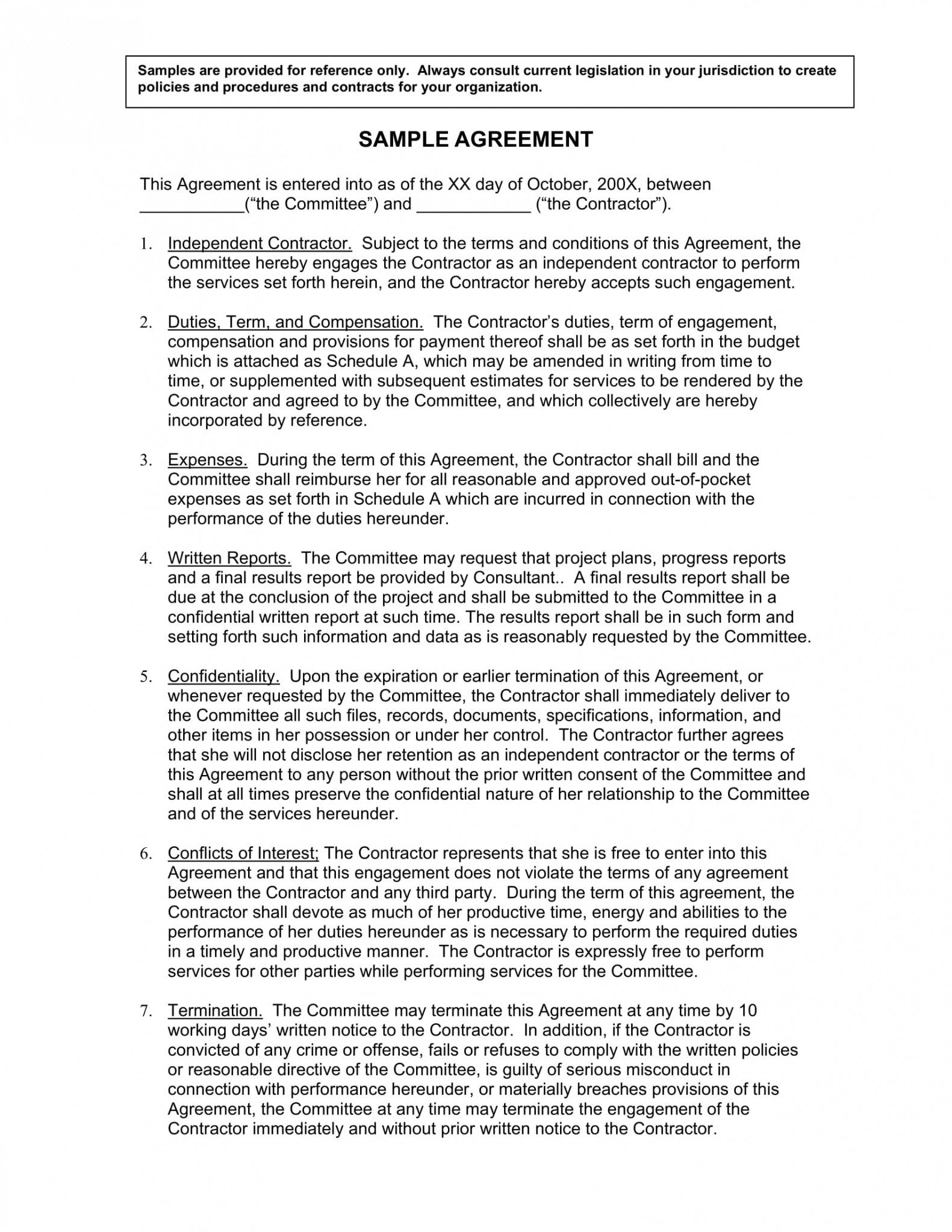 Printable Freelance Software Development Contract Template Word
