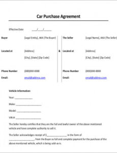 Printable Legal Contract Template For Payment Word Sample
