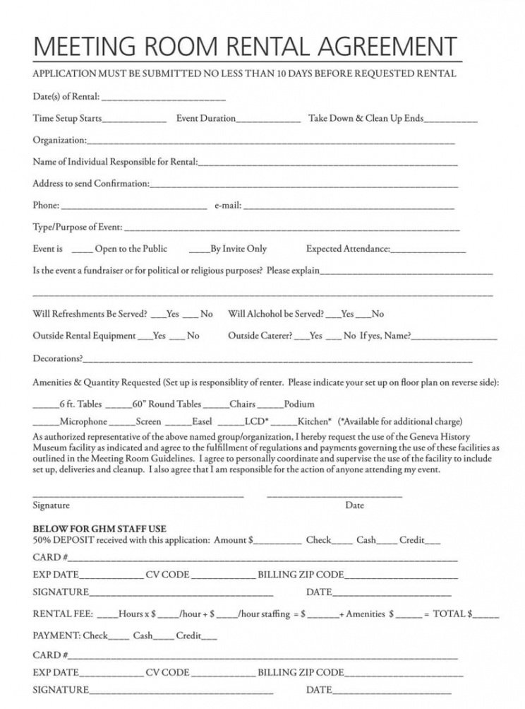Professional Roommate Rental Contract Template  Example