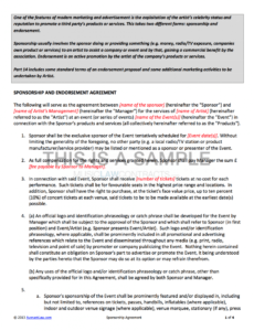 sample sponsorship contract event sponsorship contract template excel