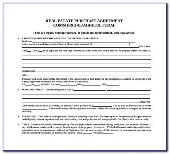 Best Commercial Real Estate Contract Template Word Example