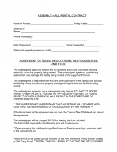 Best Facility Rental Contract Template Doc Example