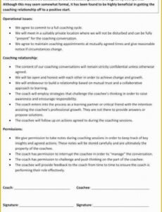 Best Life Coaching Contract Template Excel Sample