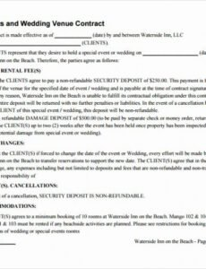 Best Venue Rental Contract Template Pdf Sample
