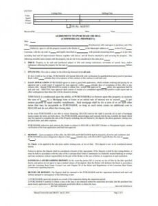 Commercial Real Estate Contract Template Doc Sample