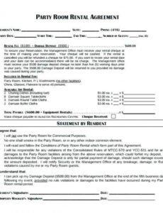 Condo Rental Contract Template Excel Example
