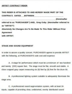 Contract For Entertainment Services Template Word Sample