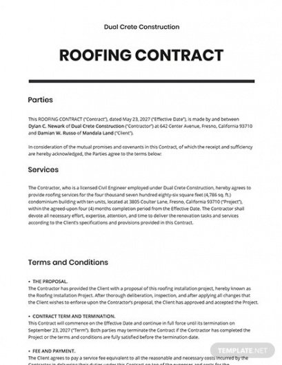 Cost Plus Construction Contract Template  Sample