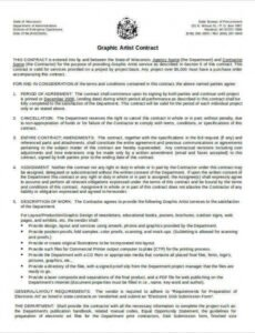 Costum Contract For Entertainment Services Template Doc