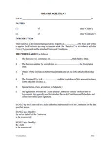 Costum Cost Plus Construction Contract Template Doc