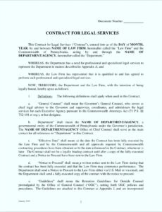 Costum Legal Contract For Services Template Doc Example