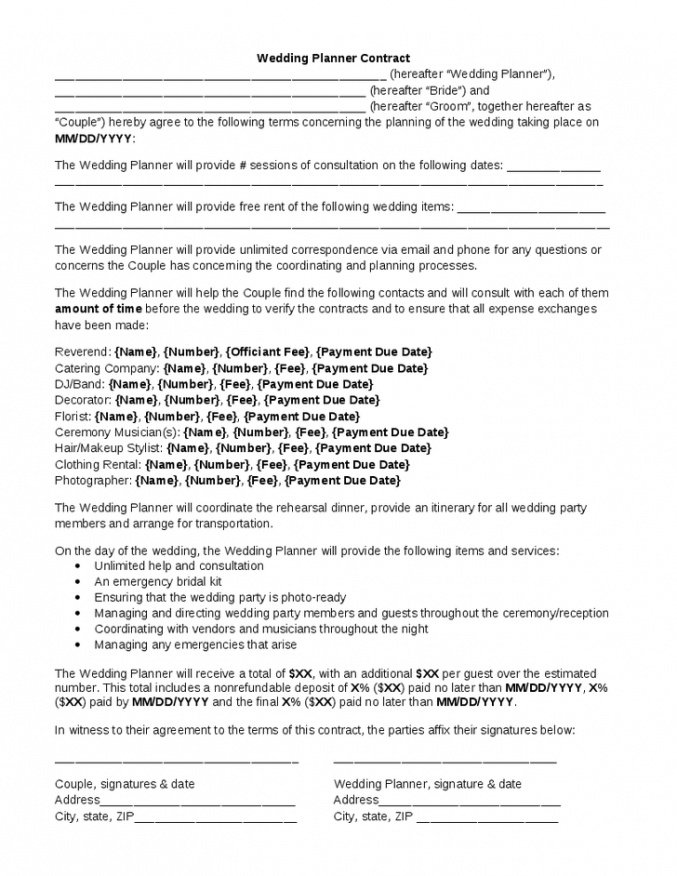 Costum Venue Rental Contract Template Pdf Sample