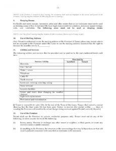 Editable Apartment Rental Contract Template Word Sample