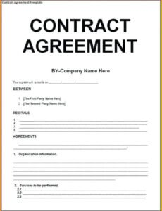 Editable Legal Services Contract Template