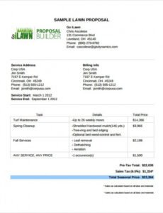Free Commercial Landscape Maintenance Contract Template Word