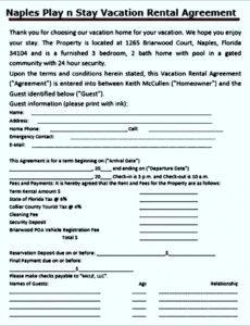 Free Condo Rental Contract Template Doc