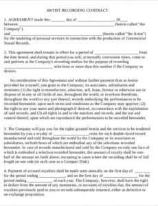 Freelance Makeup Artist Contract Template  Example
