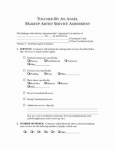 Freelance Makeup Artist Contract Template Word Sample