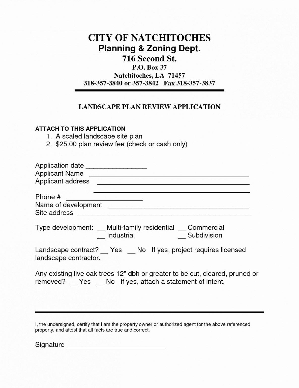 Printable Commercial Landscape Maintenance Contract Template Pdf