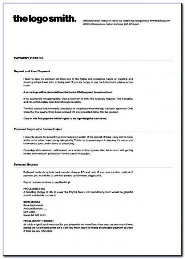 Printable Freelance Retainer Contract Template  Sample