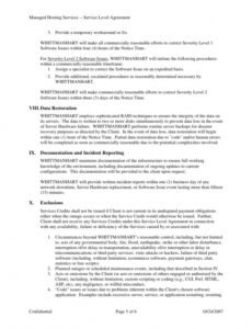 Professional Managed Services Contract Template Word