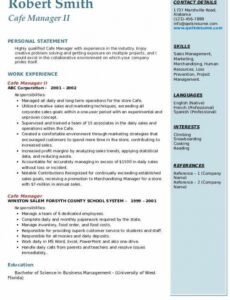 Bar Manager Contract Template