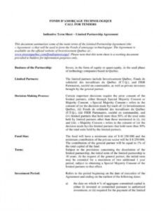 Best Company Partnership Contract Template Excel Sample