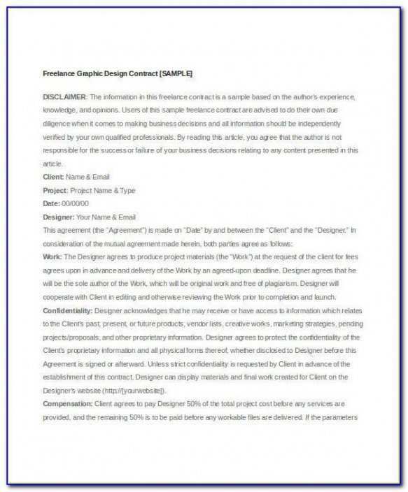 Best Freelance Marketing Contract Template Pdf Sample