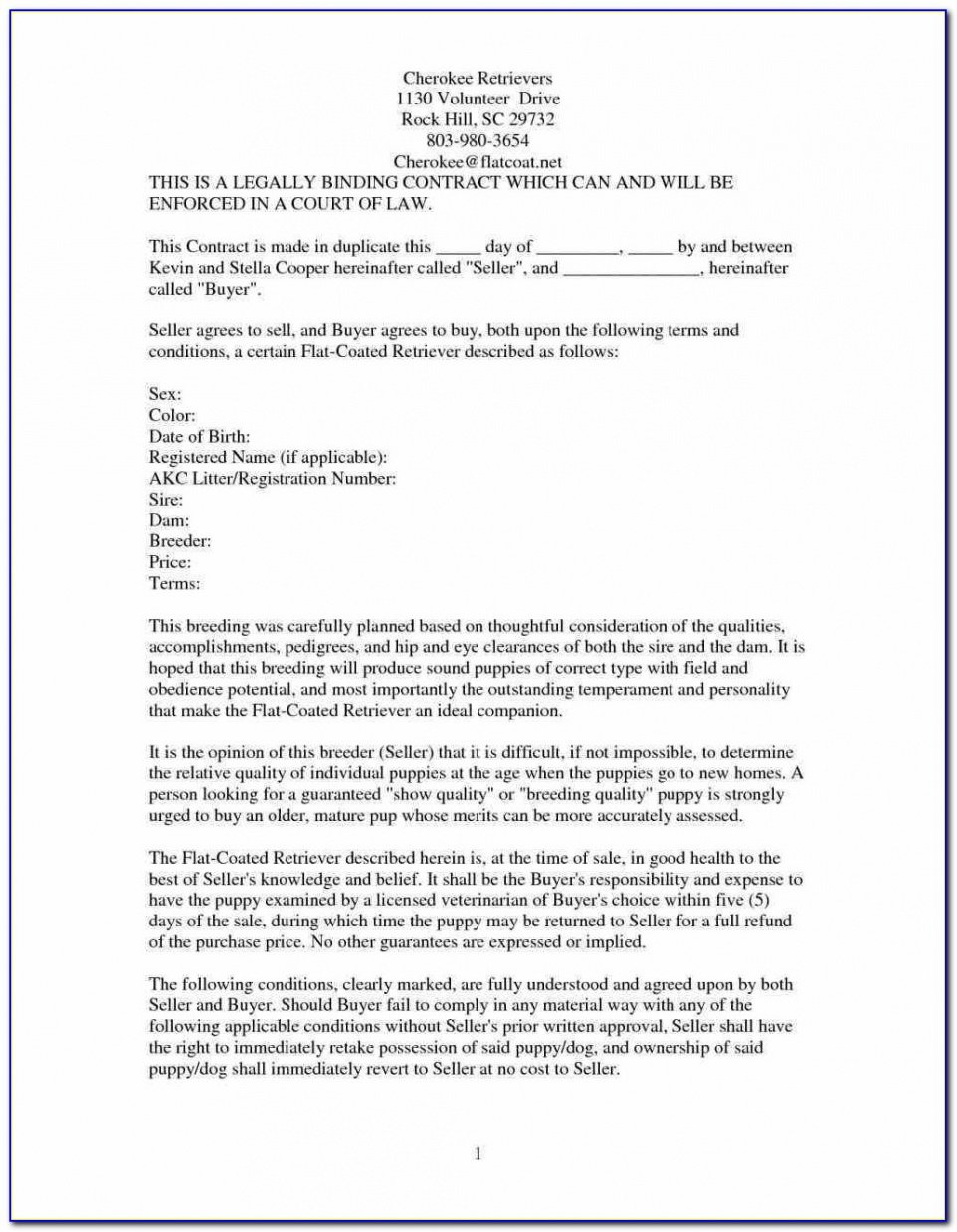 Best Legally Binding Contract Template  Example