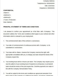 Best Temporary Employment Contract Template Doc