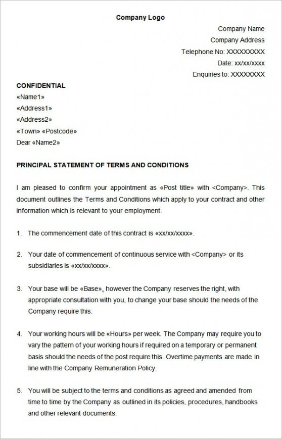 Best Temporary Job Contract Template  Sample