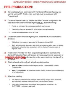 Best Video Production Agreement Contract Template Excel