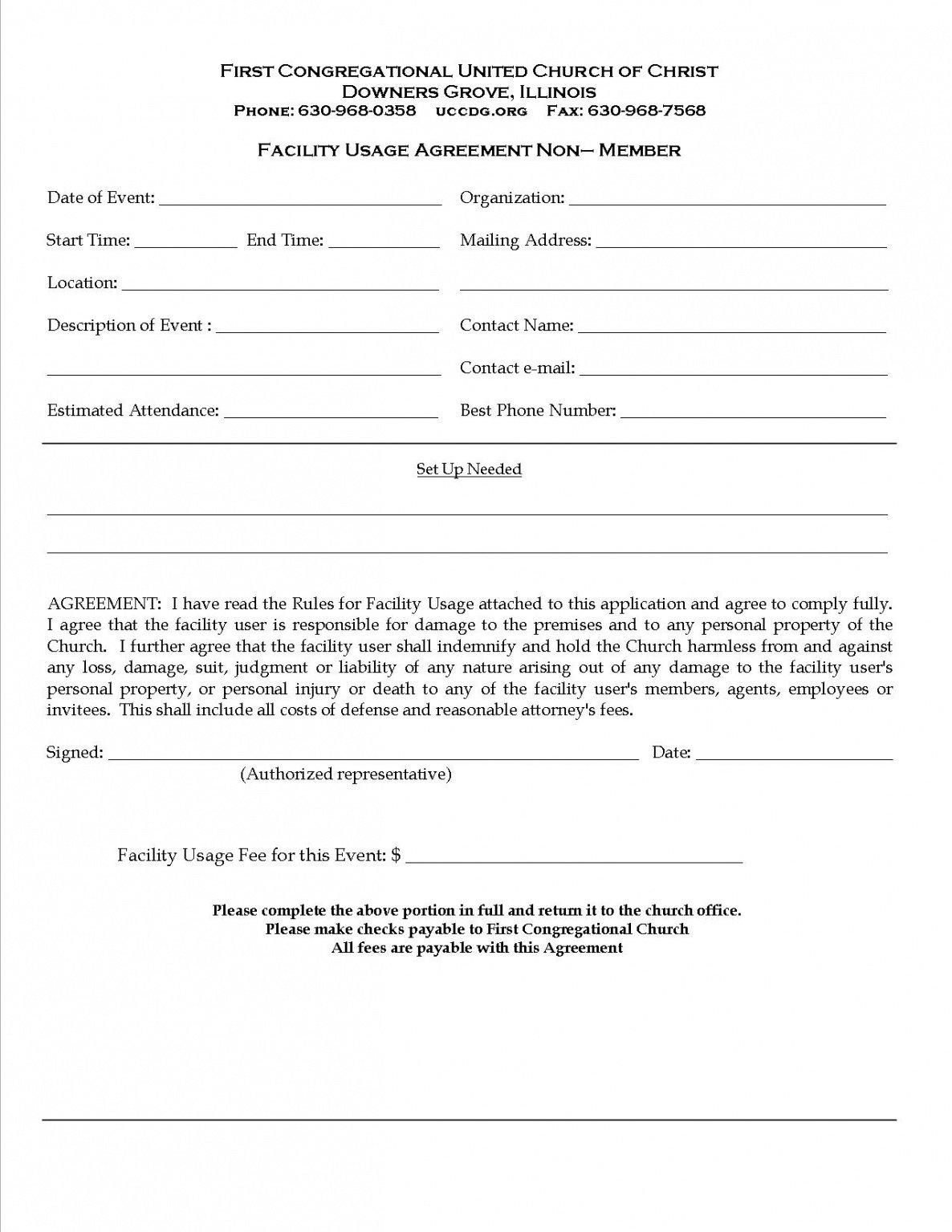 Contract For Event Planning Services Template Excel