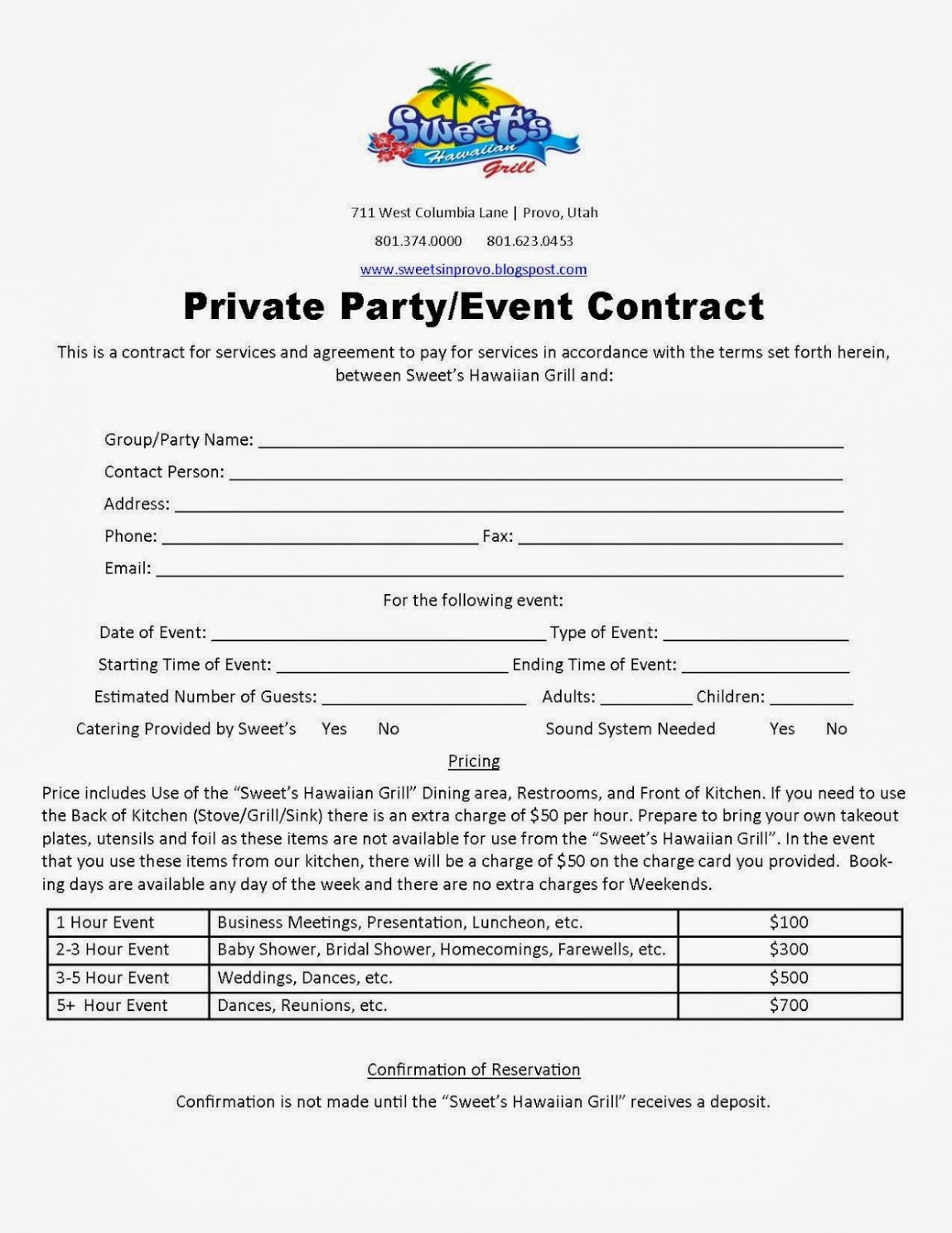Costum Contract For Event Planning Services Template Pdf Example