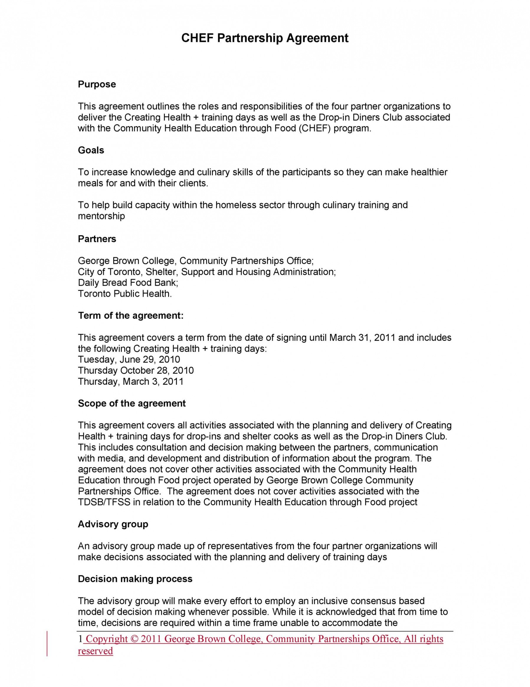 Costum General Partnership Contract Template Word Example