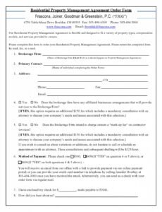 Costum Property Manager Contract Template