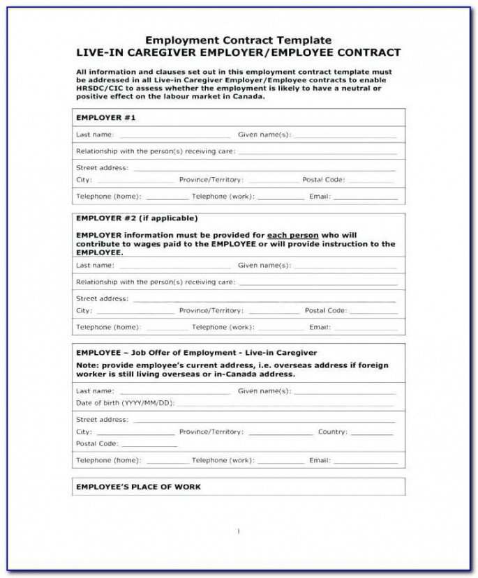 Costum Temporary Job Contract Template  Example