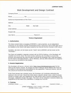 Editable Freelance Graphic Design Contract Template Excel