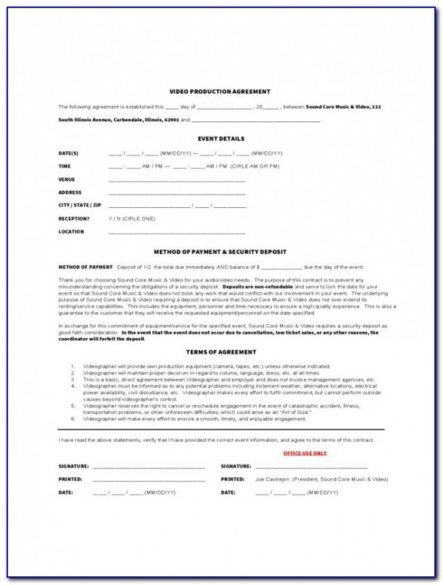 Editable Freelance Marketing Contract Template Excel Example