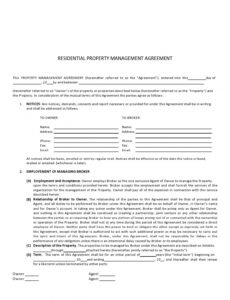 Editable Property Manager Contract Template Word Sample