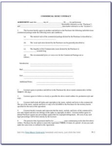 Editable Publisher Contract Template Word
