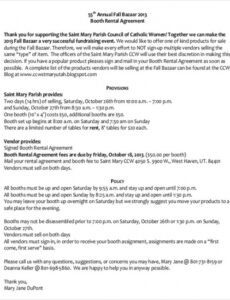 Free Booth Rental Contract Template Doc Example