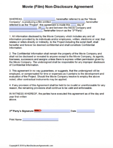 Free Film Production Contract Template Doc
